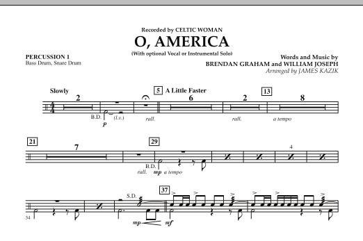 O, America - Percussion 1 (Orchestra)