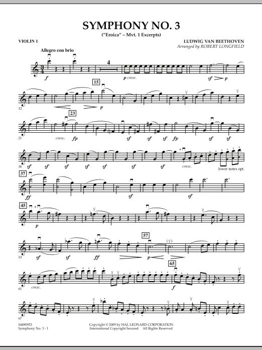 "Symphony No. 3 (""Eroica"" - Mvt. 1 Excerpts) - Violin 1 (Orchestra)"