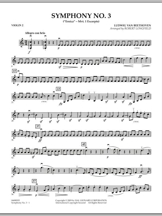 "Symphony No. 3 (""Eroica"" - Mvt. 1 Excerpts) - Violin 2 (Orchestra)"