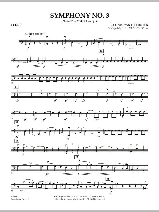 "Symphony No. 3 (""Eroica"" - Mvt. 1 Excerpts) - Cello (Orchestra)"