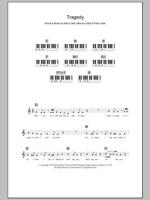 Tragedy Sheet Music