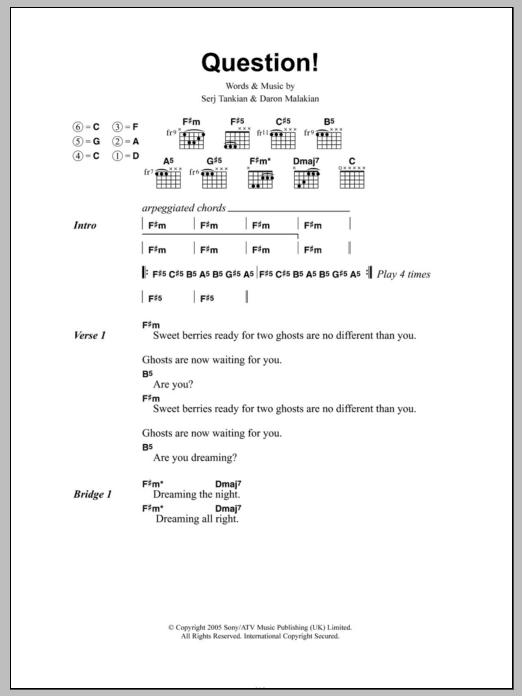 Question! Sheet Music