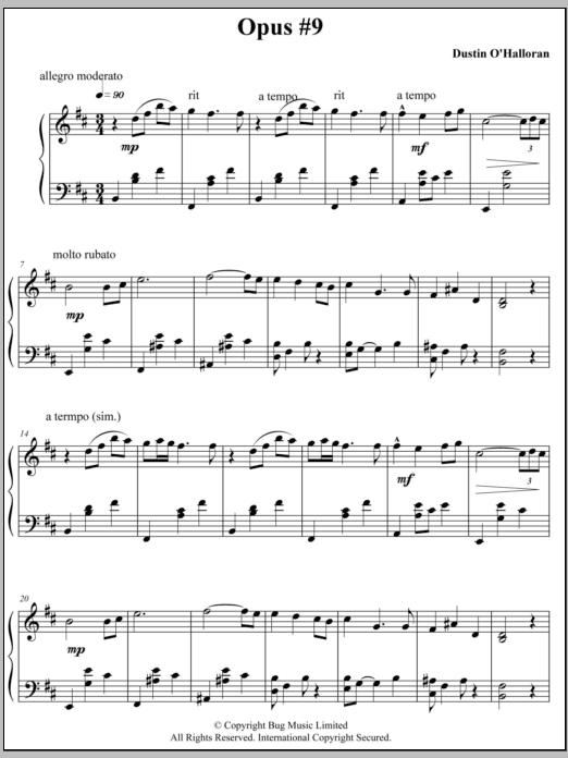 Opus 9 Sheet Music