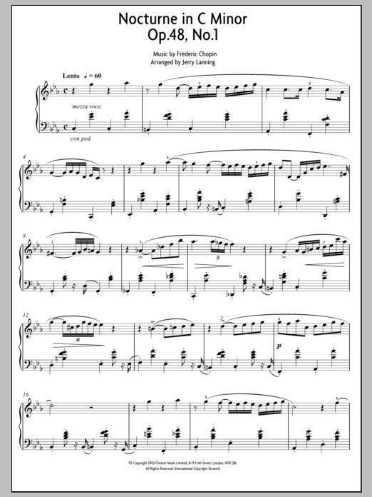 Nocturne In C Minor Op. 48, No. 1 (Piano Solo)