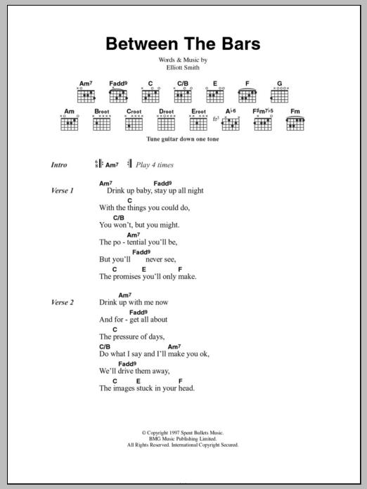 Between The Bars Sheet Music