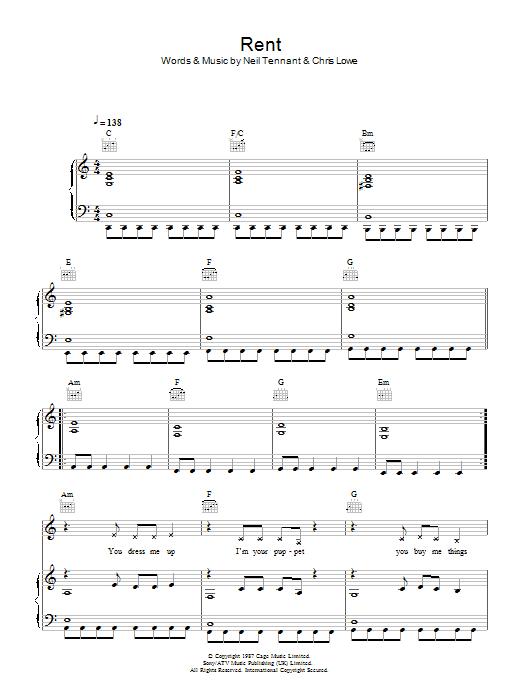 Rent (Piano, Vocal & Guitar)