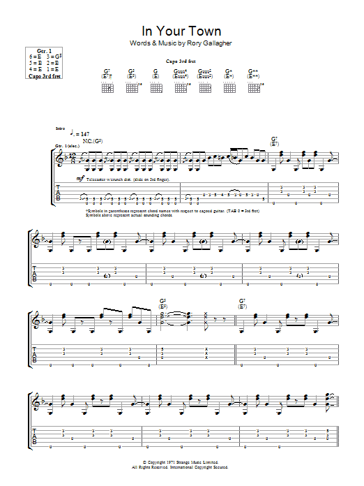 In Your Town Sheet Music