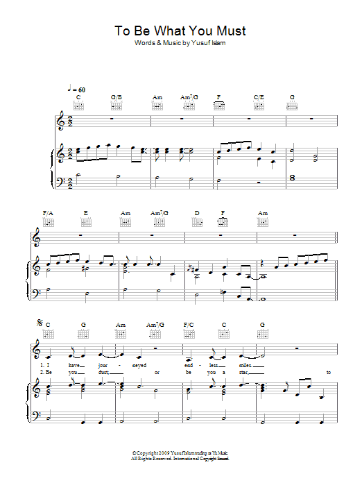 To Be What You Must Sheet Music