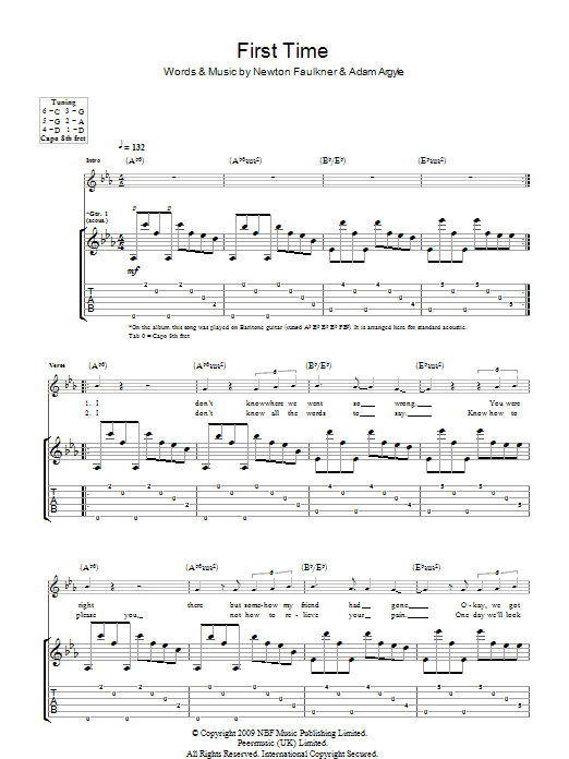 First Time Sheet Music