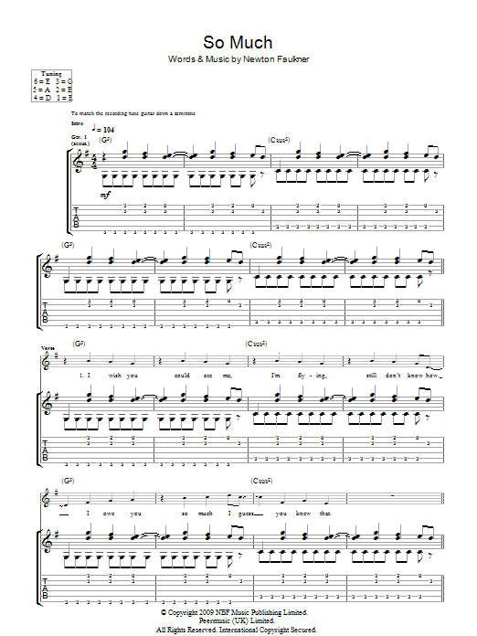 So Much (Guitar Tab)