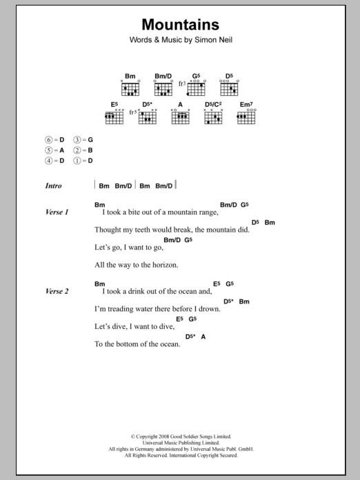 Mountains Sheet Music