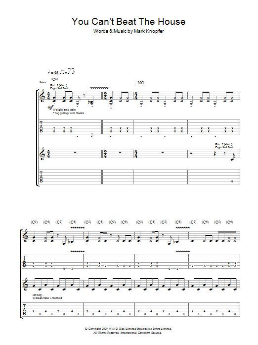 You Can't Beat The House (Guitar Tab)