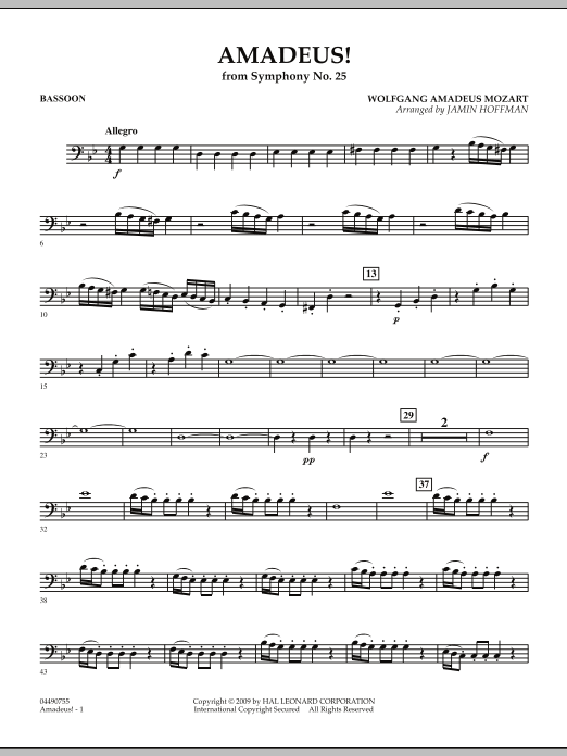 Amadeus! - Bassoon (Full Orchestra)