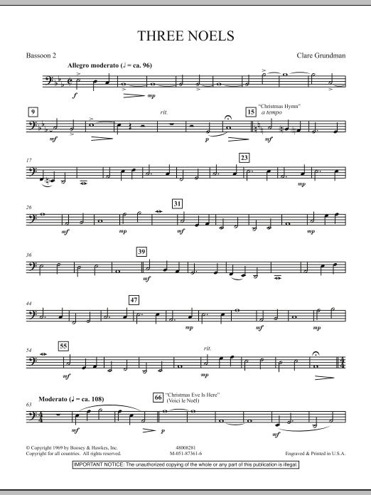Three Noels - Bassoon 2 (Full Orchestra)