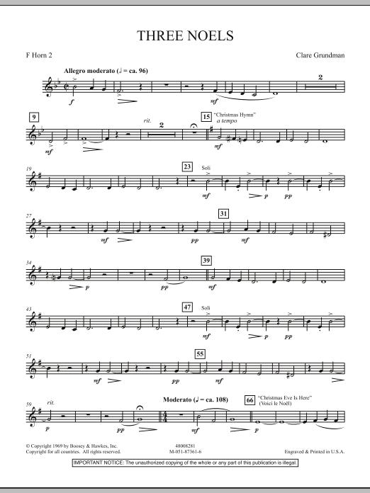 Three Noels - F Horn 2 (Full Orchestra)