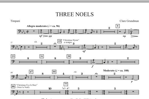 Three Noels - Timpani (Full Orchestra)