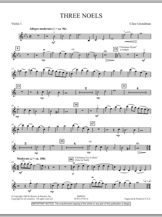 Three Noels - Violin 1 (Full Orchestra)