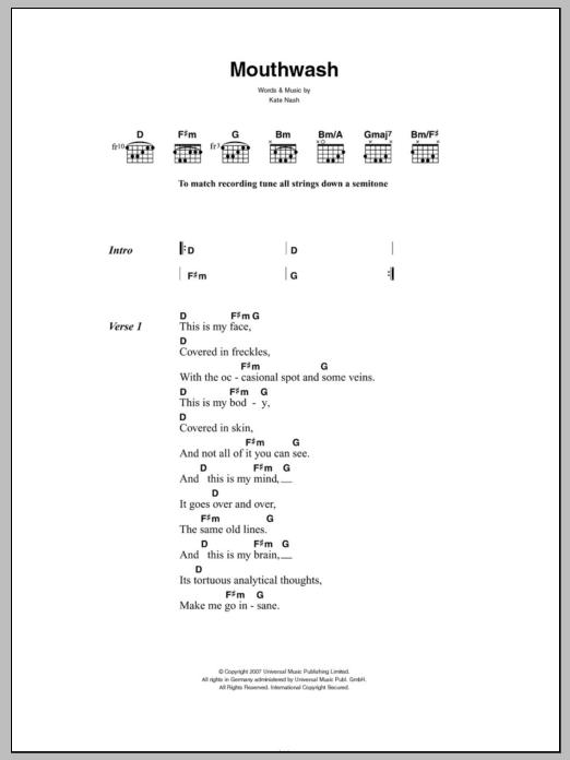 Mouthwash Sheet Music