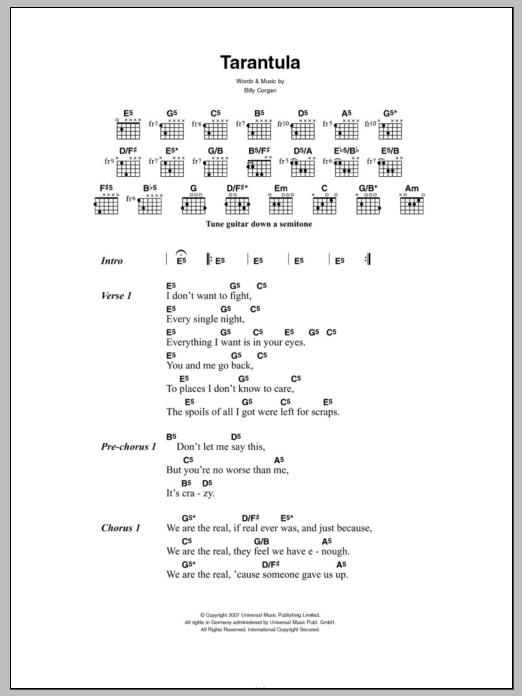 Tarantula Sheet Music