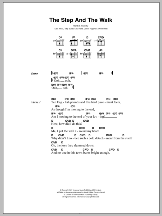 The Step And The Walk Sheet Music