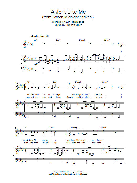 A Jerk Like Me (from When Midnight Strikes) Sheet Music