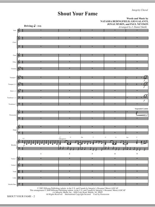 Shout Your Fame - Full Score Sheet Music