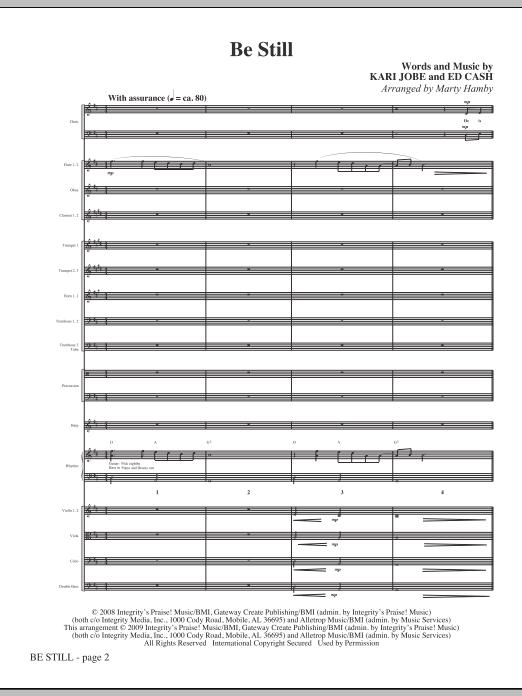 Be Still - Full Score Sheet Music