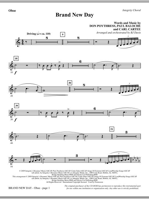 Brand New Day - Oboe Sheet Music