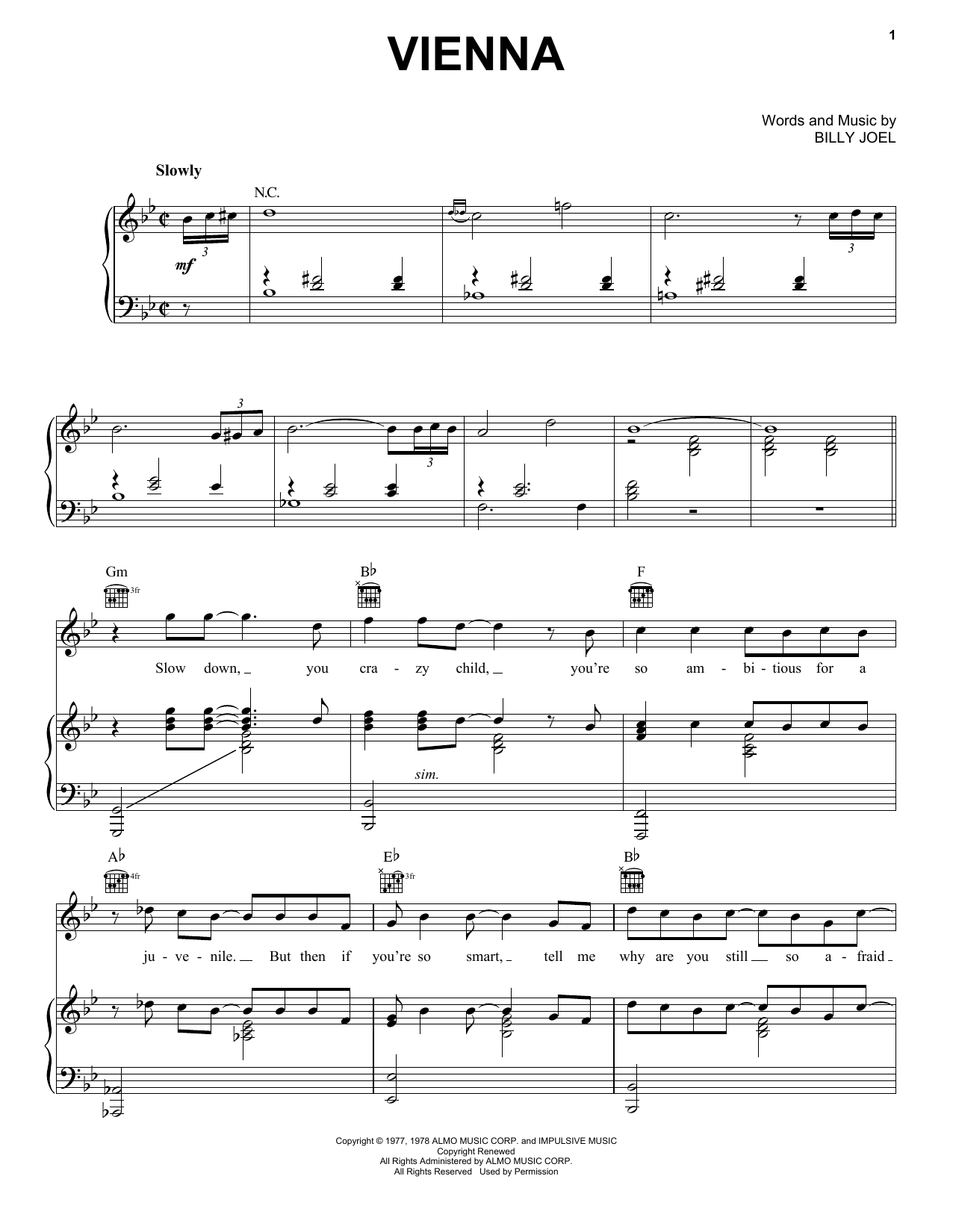 billy joel sheet music - Mersn.proforum.co