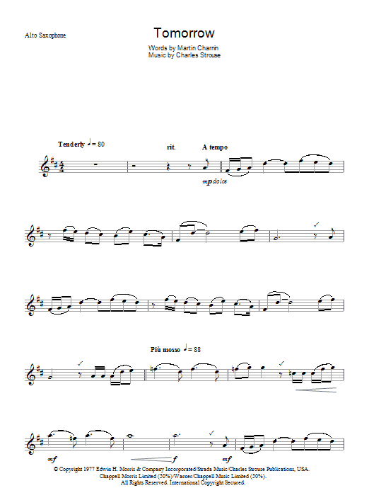Tomorrow (from Annie) Sheet Music