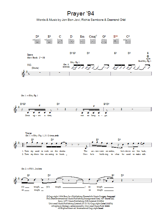 Prayer '94 (Guitar Tab)