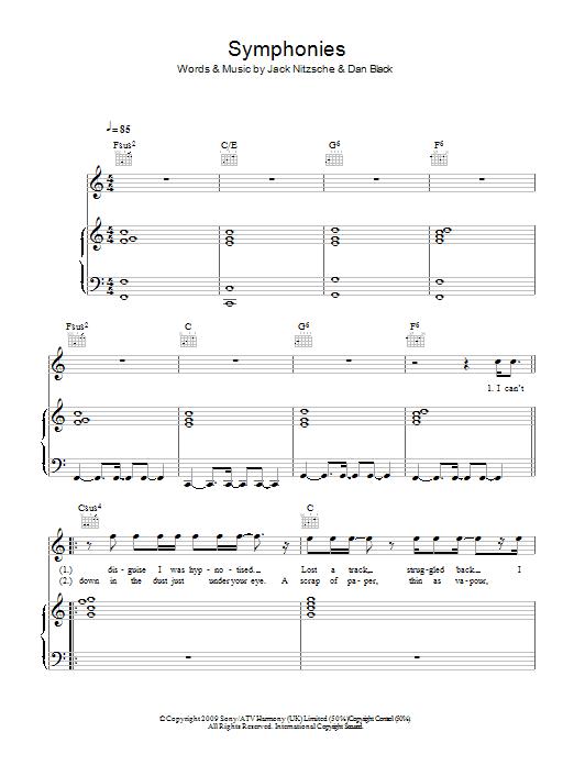 Symphonies (Piano, Vocal & Guitar)