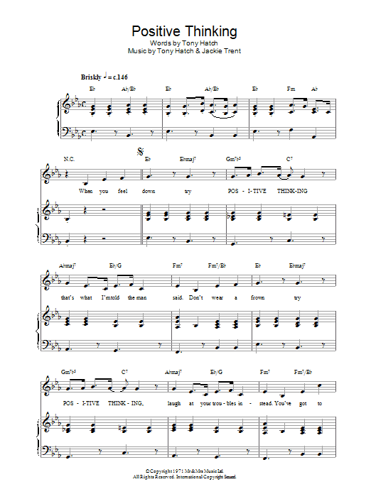 Positive Thinking Sheet Music