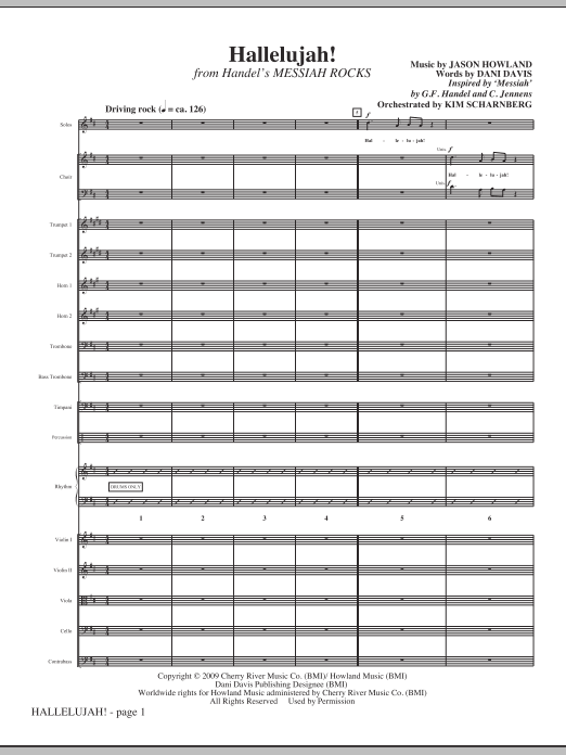 Hallelujah! (from Messiah Rocks) - Full Score Sheet Music
