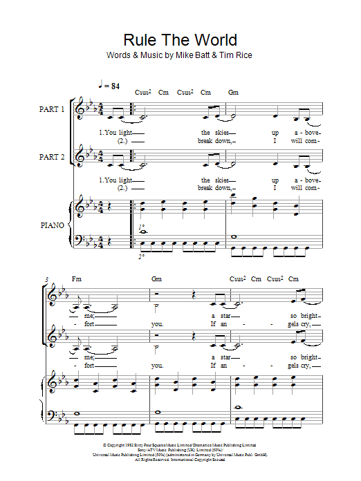 Rule The World (arr. Rick Hein) (2-Part Choir)