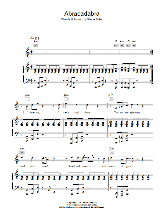 Abracadabra Sheet Music