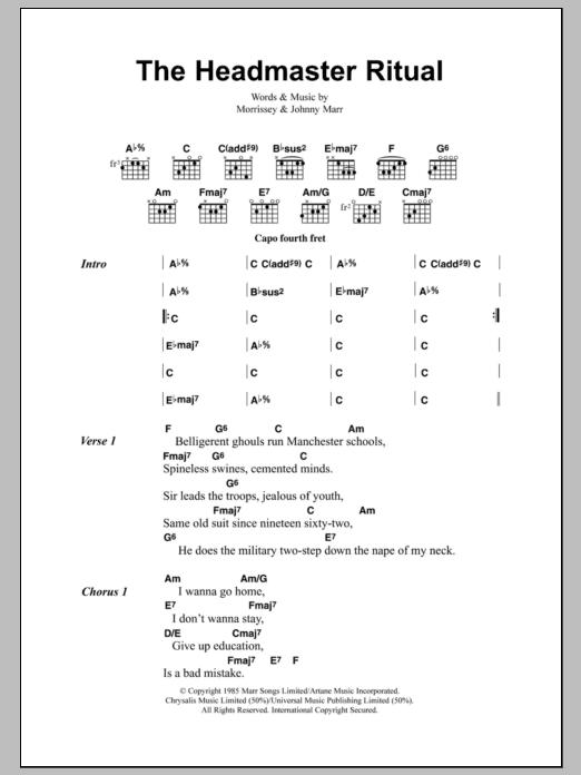 The Headmaster Ritual Sheet Music