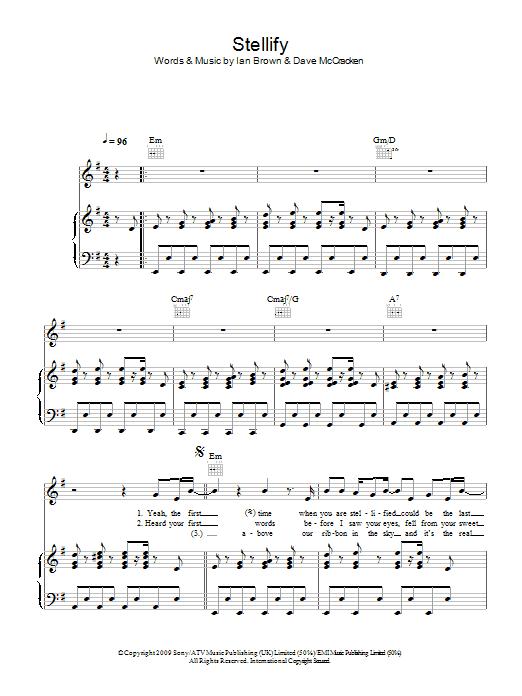 Stellify (Piano, Vocal & Guitar)