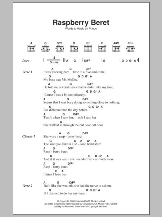 Raspberry Beret Sheet Music