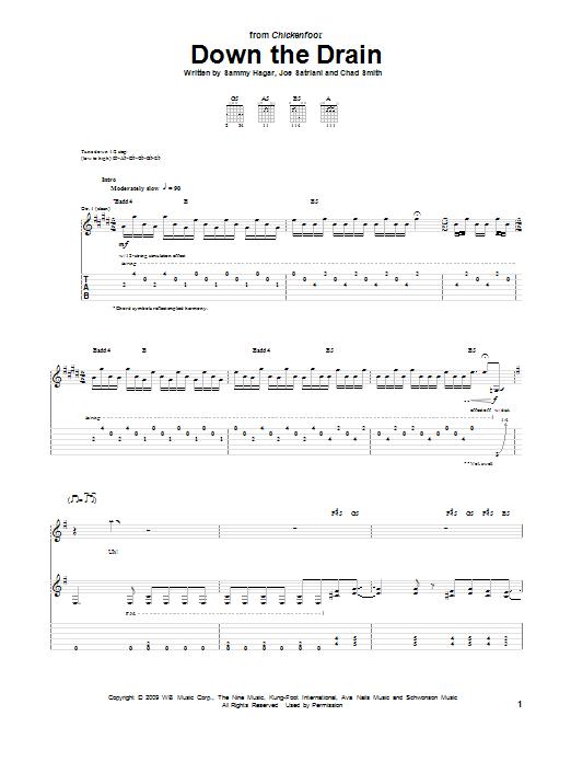 Down The Drain (Guitar Tab)