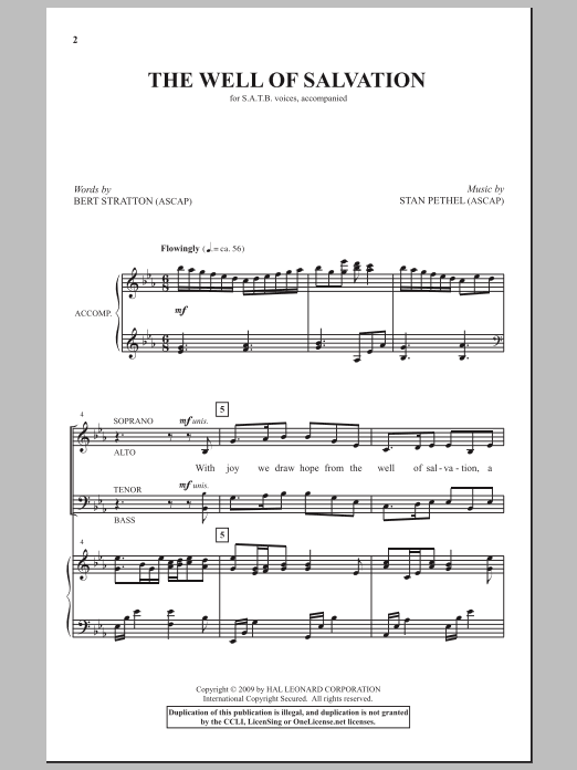 The Well Of Salvation (SATB Choir)