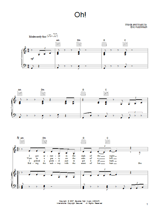 Oh! Sheet Music