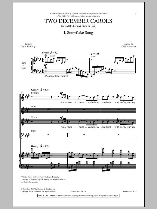 Two December Carols (SATB Choir)