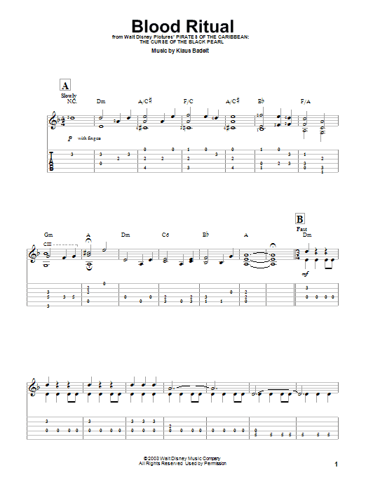 Blood Ritual (Easy Guitar Tab)