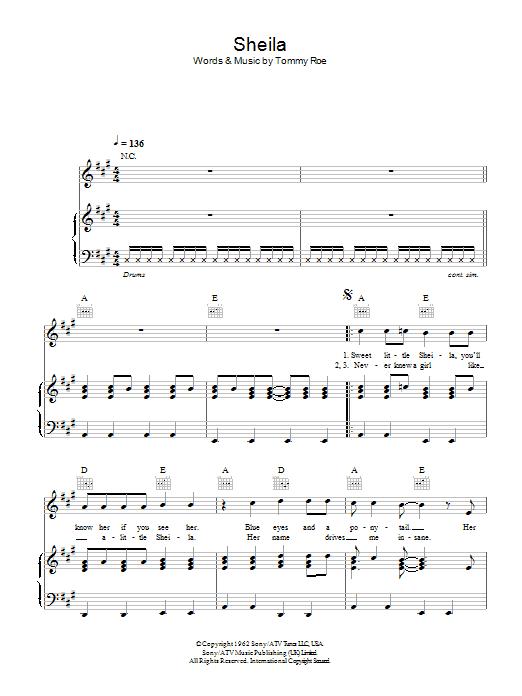 Sheila (Piano, Vocal & Guitar)