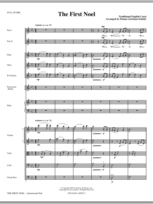 The First Noel - Full Score Sheet Music