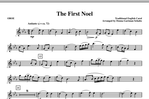 The First Noel - Oboe Sheet Music