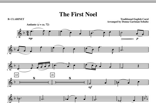 The First Noel - Bb Clarinet Sheet Music