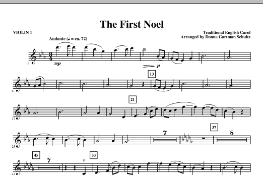 The First Noel - Violin 1 Sheet Music