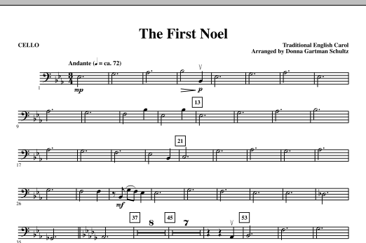 The First Noel - Cello Sheet Music